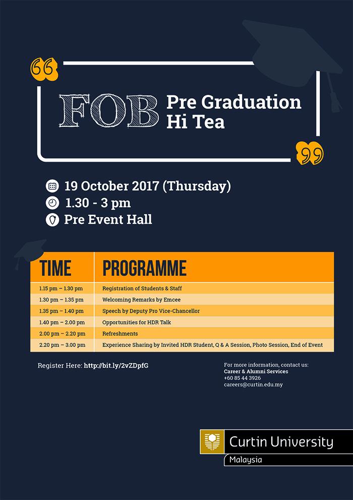 FOB Pre Grad Hi Tea